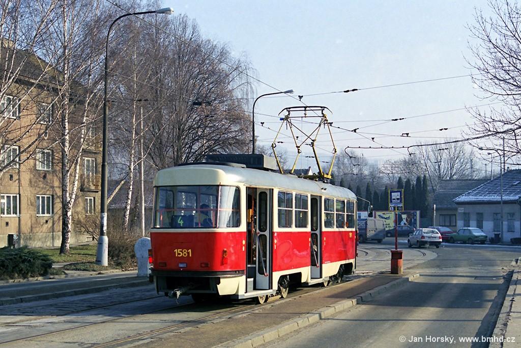 Fotogalerie » ČKD Tatra T3M 1581 | Brno | Maloměřice | Maloměřický most