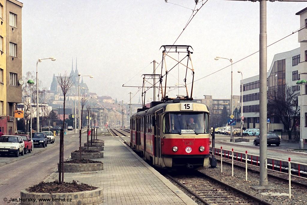 Fotogalerie » ČKD Tatra T3M 1581 | Brno | Štýřice | Renneská | Vojtova