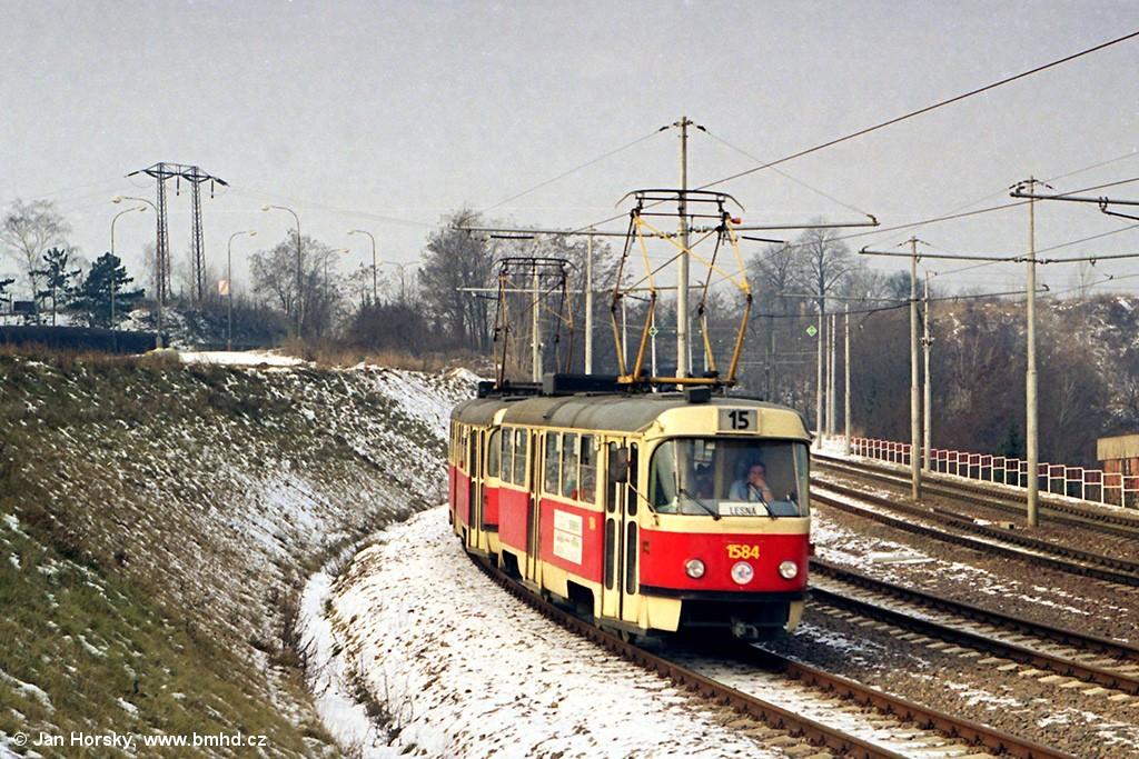 Fotogalerie » ČKD Tatra T3M 1584 | Brno | Štýřice