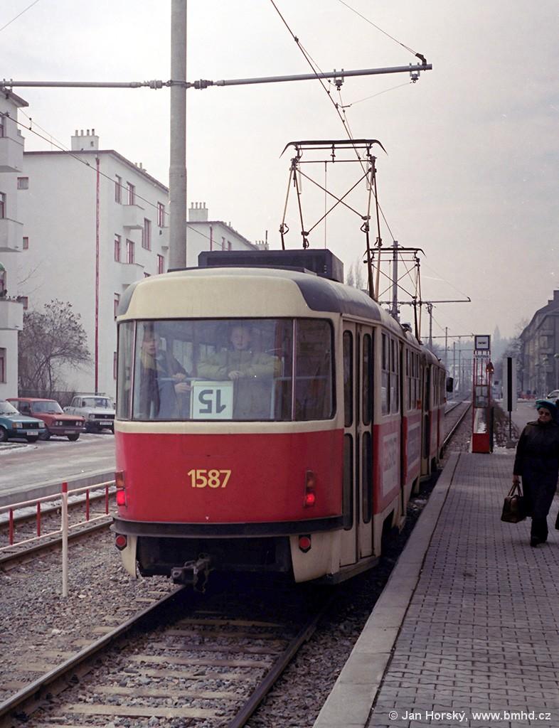 Fotogalerie » ČKD Tatra T3M 1587 | Brno | Štýřice | Renneská | Vojtova
