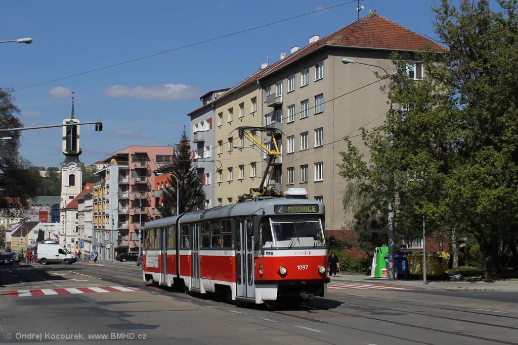 Fotogalerie » ČKD Tatra K2P 1097 | Brno | Štýřice | Vídeňská