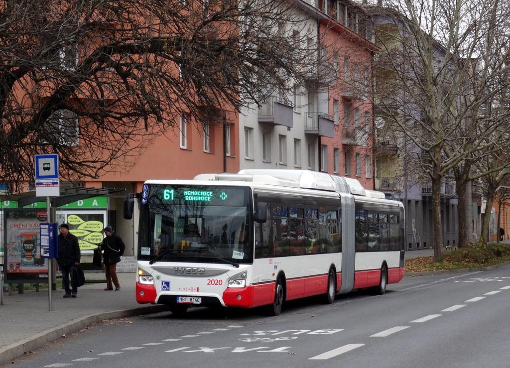 Fotogalerie » Iveco Urbanway 18M CNG 1BT 8140 2020 | Brno | Staré Brno | Nové sady | Křídlovická