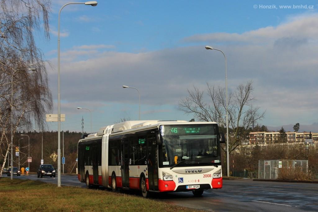 Fotogalerie » Iveco Urbanway 18M CNG 1BT 8128 2008   Brno   Lesná   Seifertova
