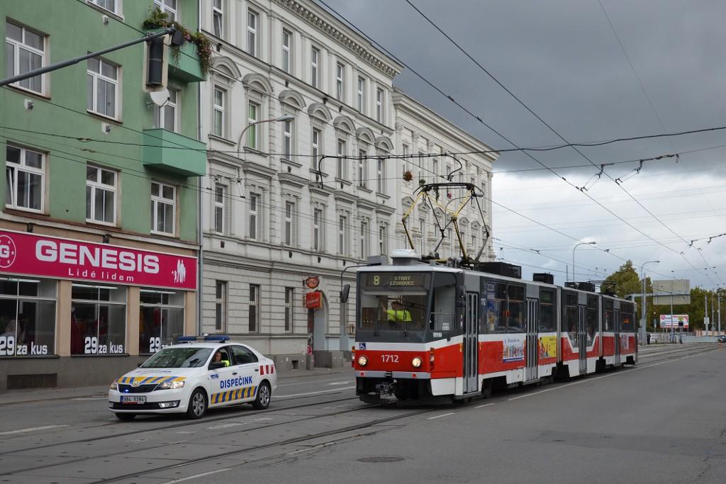 Fotogalerie » ČKD Tatra KT8D5R.N2 1712 | Škoda Rapid 1.6 TDI 9B4 5384 6244 | Brno | střed | Křenová