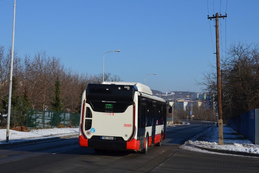 Fotogalerie » Iveco Urbanway 12M CNG 1BC 7549 7099 | Brno | Vinohrady | Křtinská