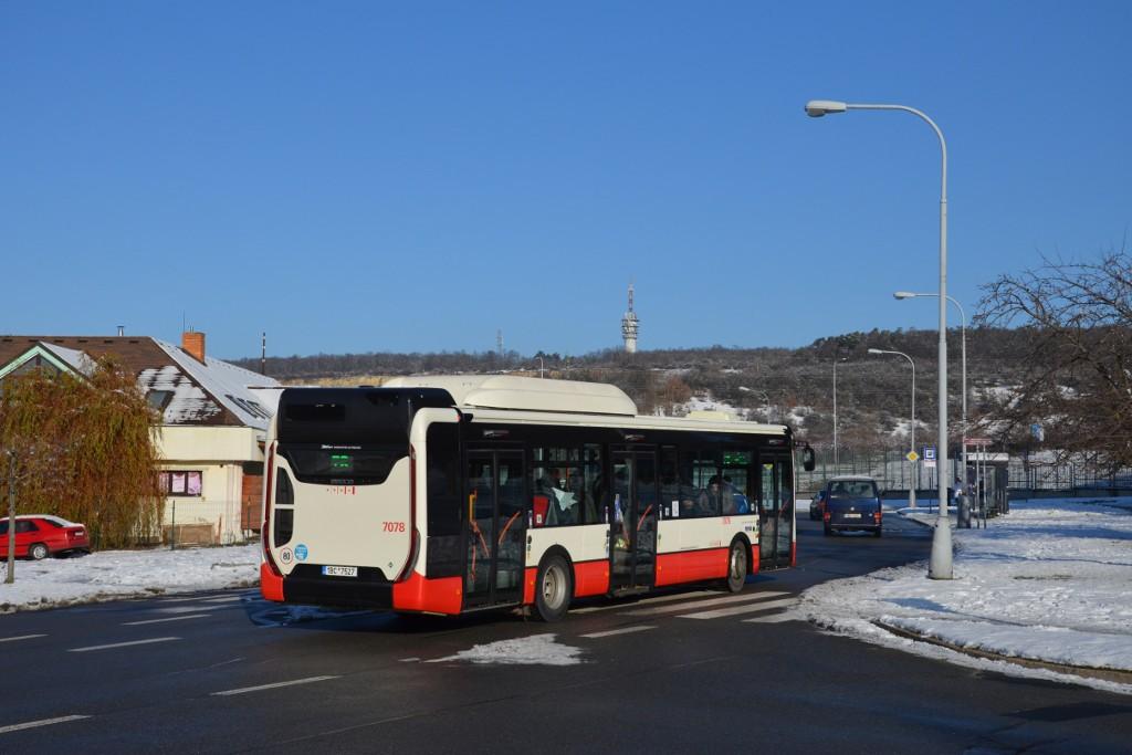 Fotogalerie » Iveco Urbanway 12M CNG 1BC 7527 7078 | Brno | Líšeň | Podruhova | Horníkova