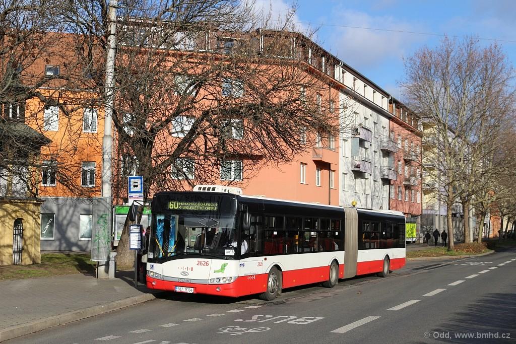 Fotogalerie » Solaris Urbino 18 III 9B7 9134 2626 | Brno | Staré Brno | Nové sady | Křídlovická