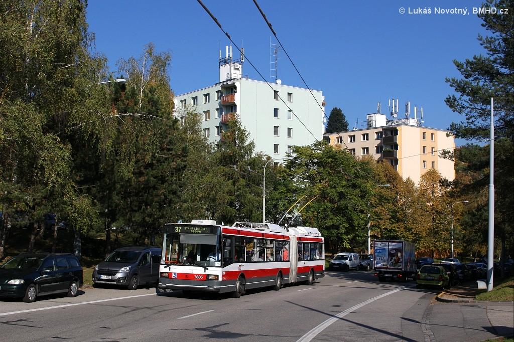 Fotogalerie » Škoda 22Tr 3605 | Brno | Kohoutovice | Libušina třída