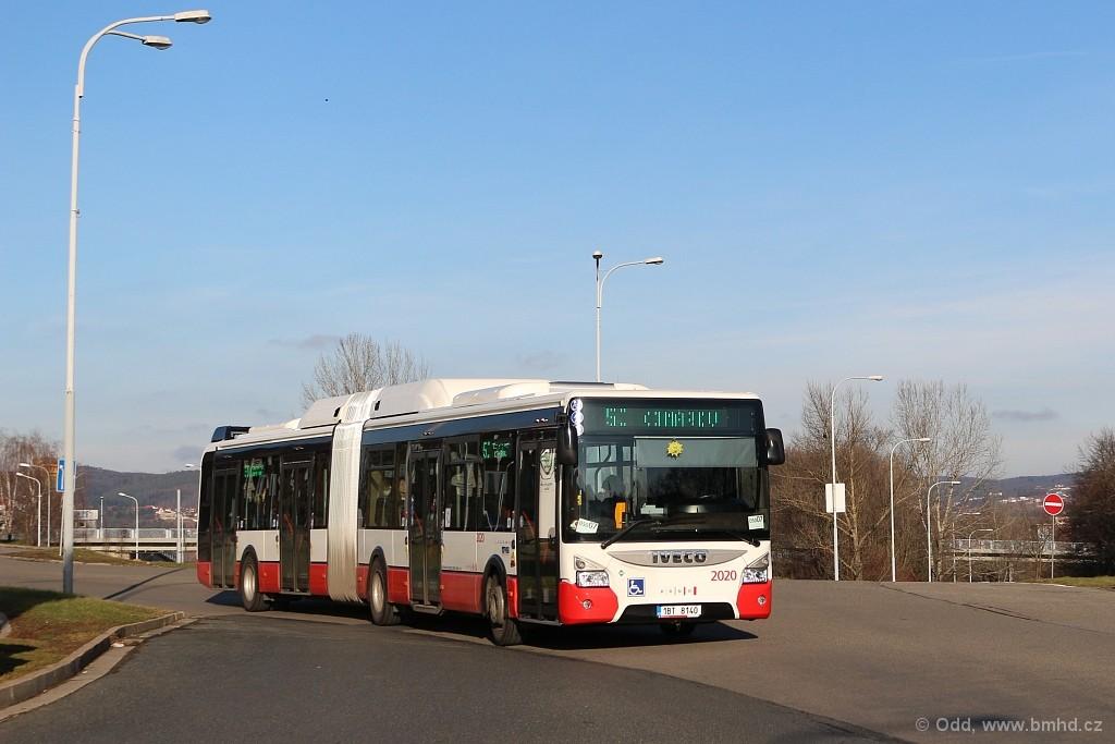 Fotogalerie » Iveco Urbanway 18M CNG 1BT 8140 2020 | Brno | Bystrc | Štouračova