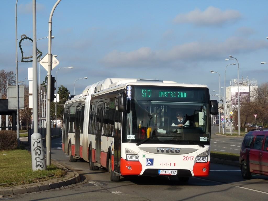 Fotogalerie » Iveco Urbanway 18M CNG 1BT 8137 2017 | Brno | Komárov | Hněvkovského