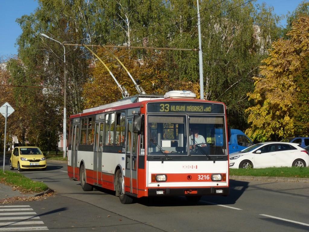 Fotogalerie » Škoda 14Tr08/6 3216 | Brno | Slatina | Mikulčická
