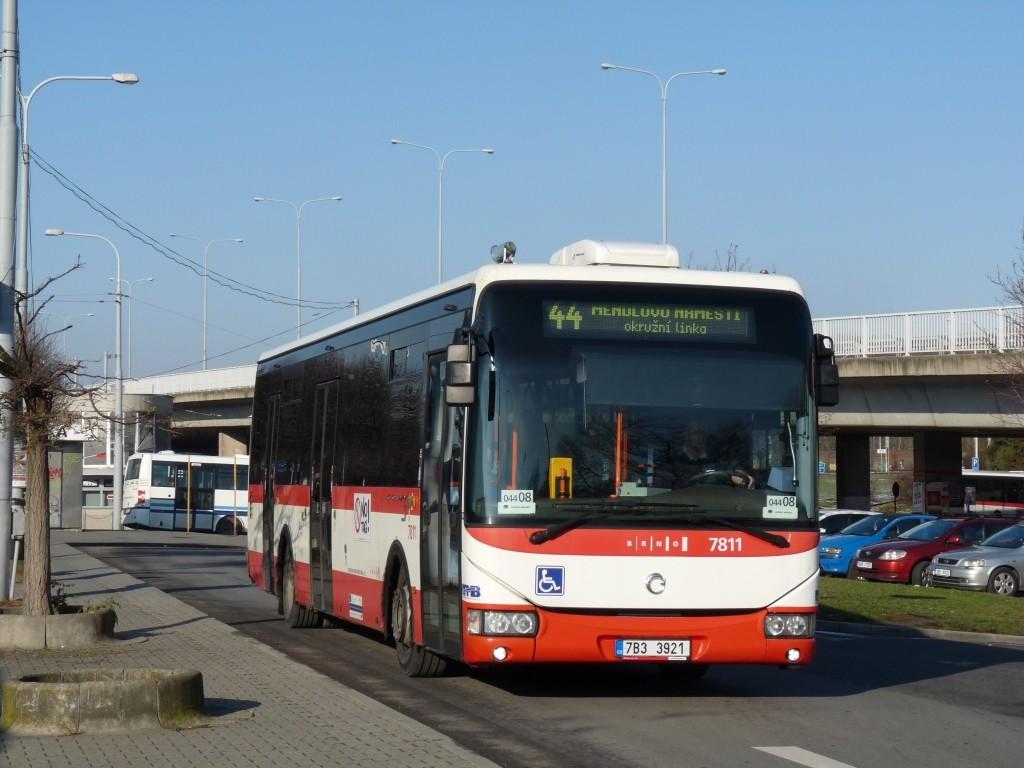 Fotogalerie » Irisbus Crossway LE 12M 7B3 3921 7811 | Brno | Královo Pole | Kosmova