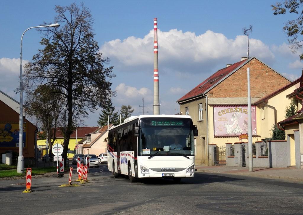 Fotogalerie » Iveco Crossway LE LINE 12M 1BF 0870 | Brno | Maloměřice | Selská