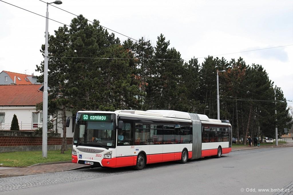 Fotogalerie » Iveco Urbanway 18M CNG 1BT 8142 2022 | Brno | Bystrc | náměstí 28. dubna | Zoologická zahrada