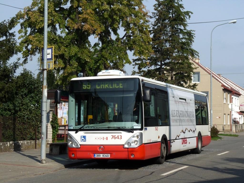 Fotogalerie » Irisbus Citelis 12M 3B9 8340 7643 | Brno | Holásky | V aleji | Prodloužená