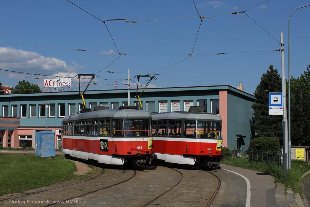 Fotogalerie » Pragoimex T3R.PV 1558 | Pragoimex T3R.EV 1531 | Brno | Štefánikova Čtvrť | Merhautova