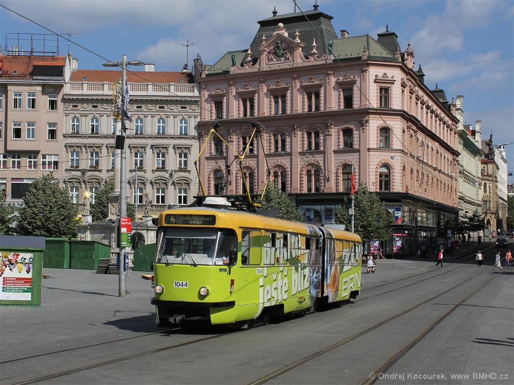 Fotogalerie » ČKD Tatra K2T 1044 | Brno | střed | náměstí Svobody