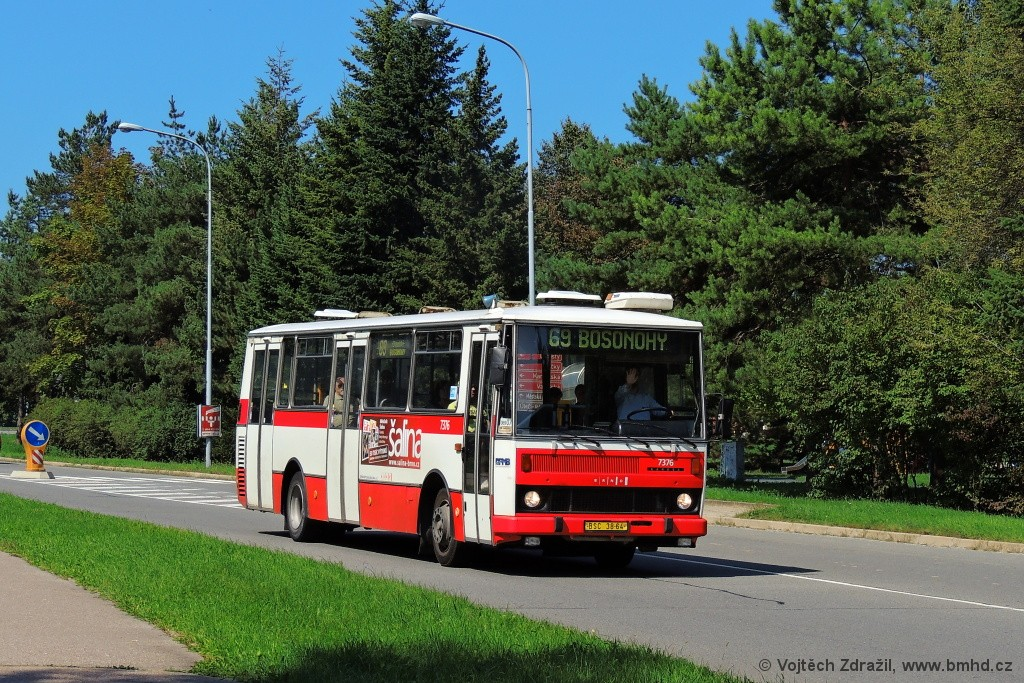 Fotogalerie » Karosa B732.1654.3 BSC 38-64 7376 | Brno | Starý Lískovec | Osová