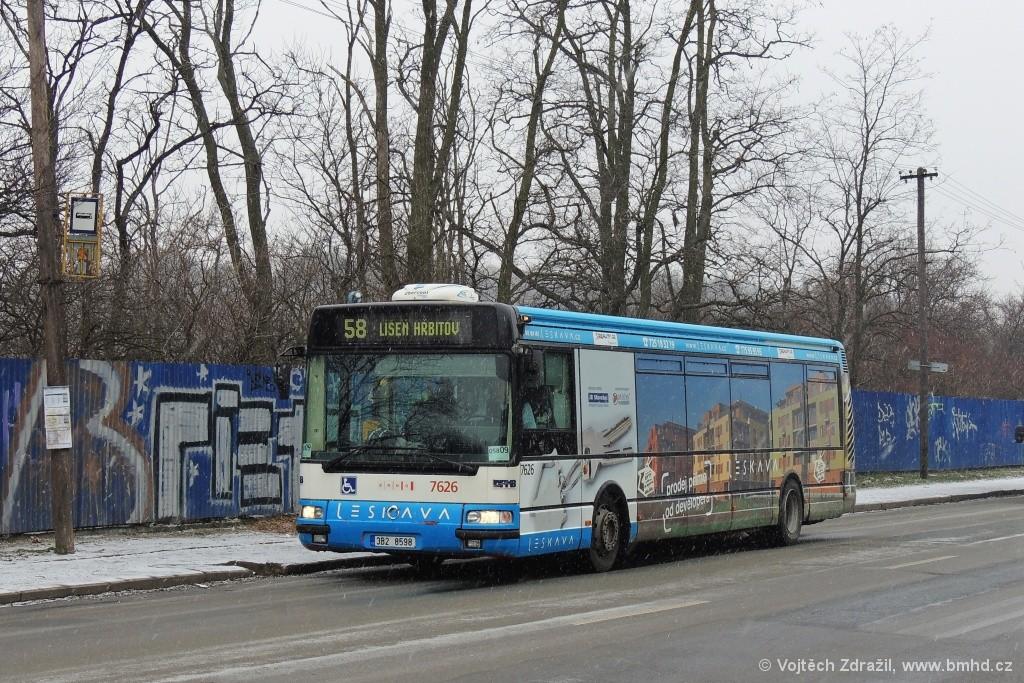 Fotogalerie » Irisbus Citybus 12M 2071.40 3B2 8598 7626 | Brno | Líšeň | Křtinská | Malá Klajdovka