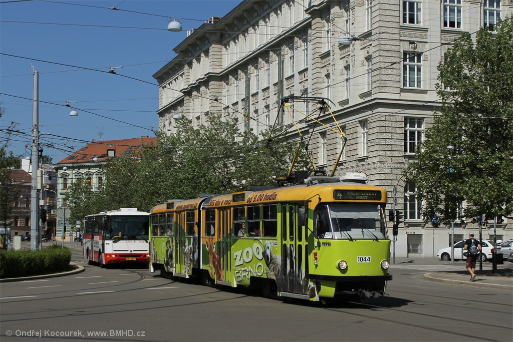 Fotogalerie » ČKD Tatra K2T 1044 | Brno | střed | Joštova