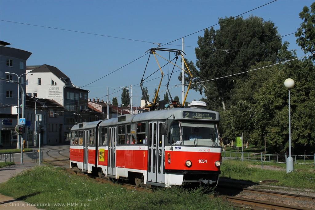 Fotogalerie » ČKD Tatra K2T 1054 | Brno | Židenice | Bubeníčkova