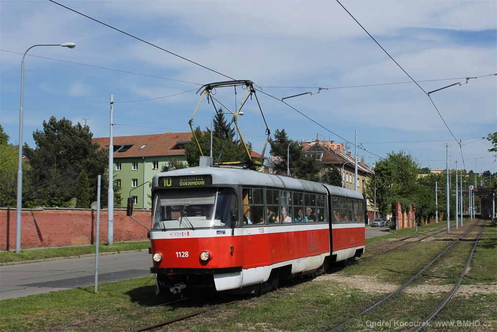 Fotogalerie » ČKD Tatra K2 1128 | Brno | Židenice | Nezamyslova