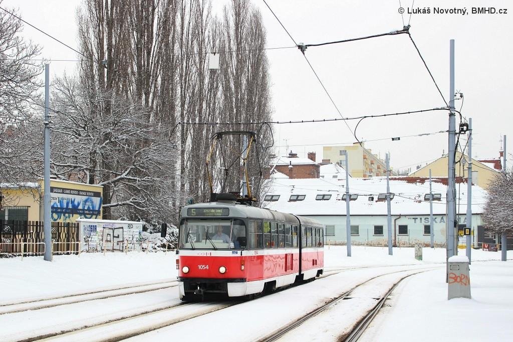 Fotogalerie » ČKD Tatra K2T 1054 | Brno | Štýřice | Vídeňská