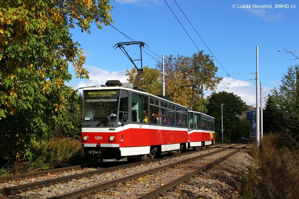 Fotogalerie » ČKD DS T6A5 1205 | ČKD DS T6A5 1206 | Brno | Žabovřesky