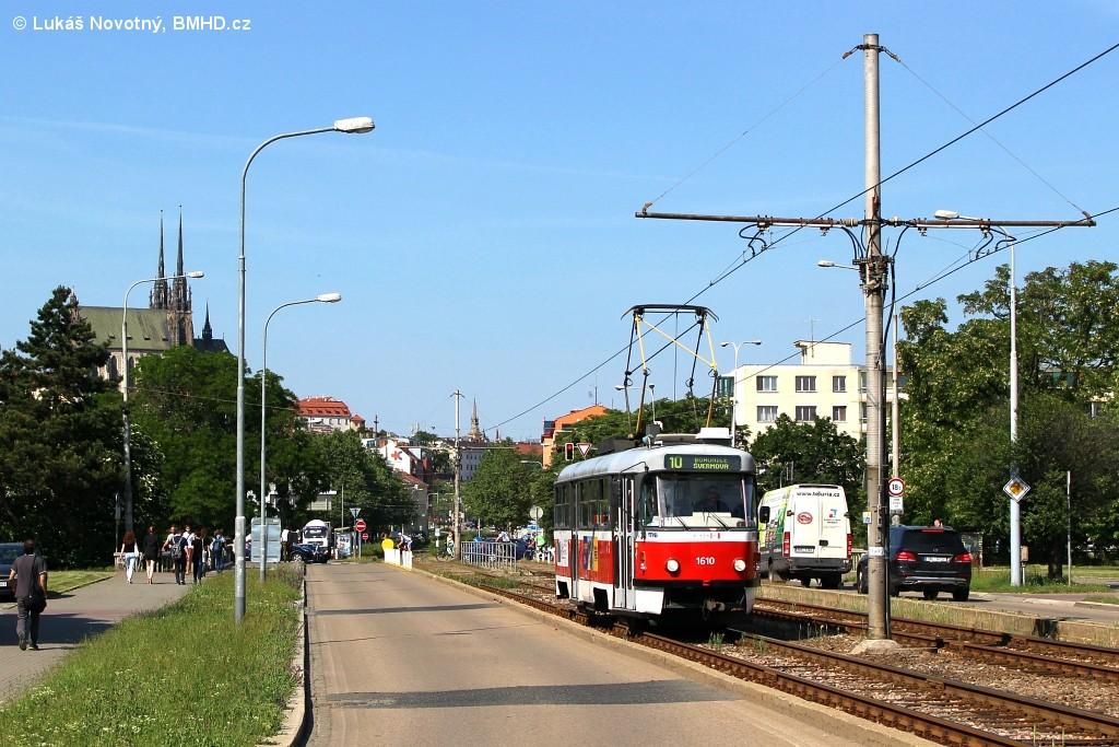 Fotogalerie » ČKD Tatra T3G 1610 | Brno | Střed | Renneská třída