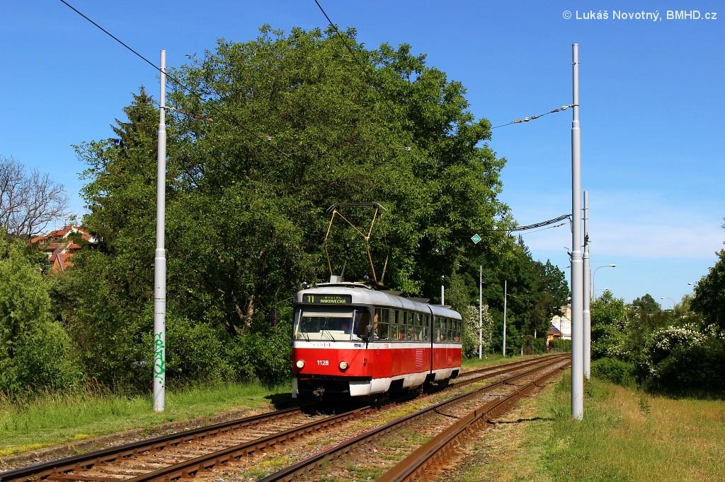 Fotogalerie » ČKD Tatra K2 1128 | Brno | Komín | Branka | Branka