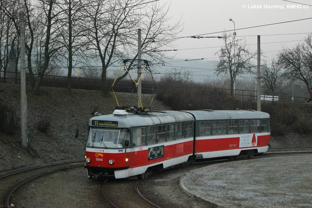 Fotogalerie » ČKD Tatra K2T 1044 | Brno | Bystrc | Rakovecká, smyčka