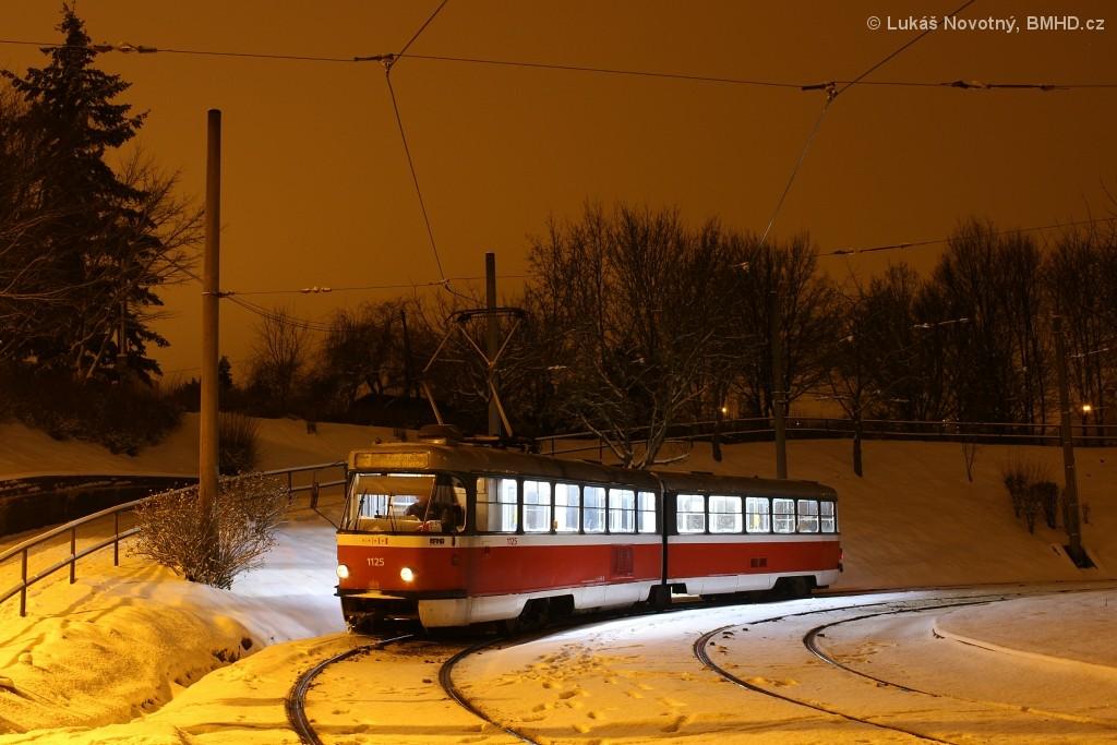 Fotogalerie » ČKD Tatra K2 1125 | Brno | Bystrc | Rakovecká, smyčka