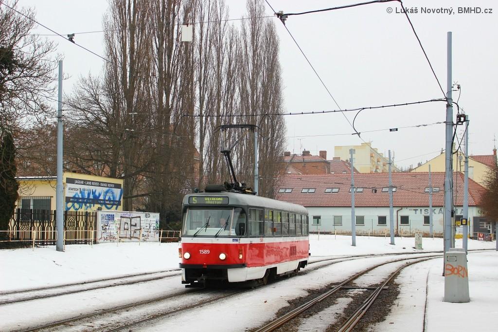 Fotogalerie » ČKD Tatra T3P 1589 | Brno | Štýřice | Vídeňská
