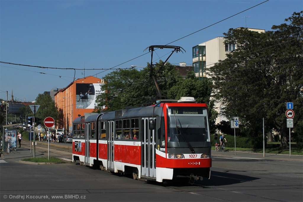 Fotogalerie » ČKD Tatra K2R03 1027 | Brno | Štýřice | Renneská