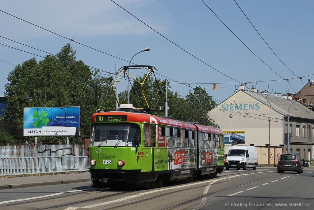 Fotogalerie » ČKD Tatra K2 1125 | Brno | Černovice | Olomoucká