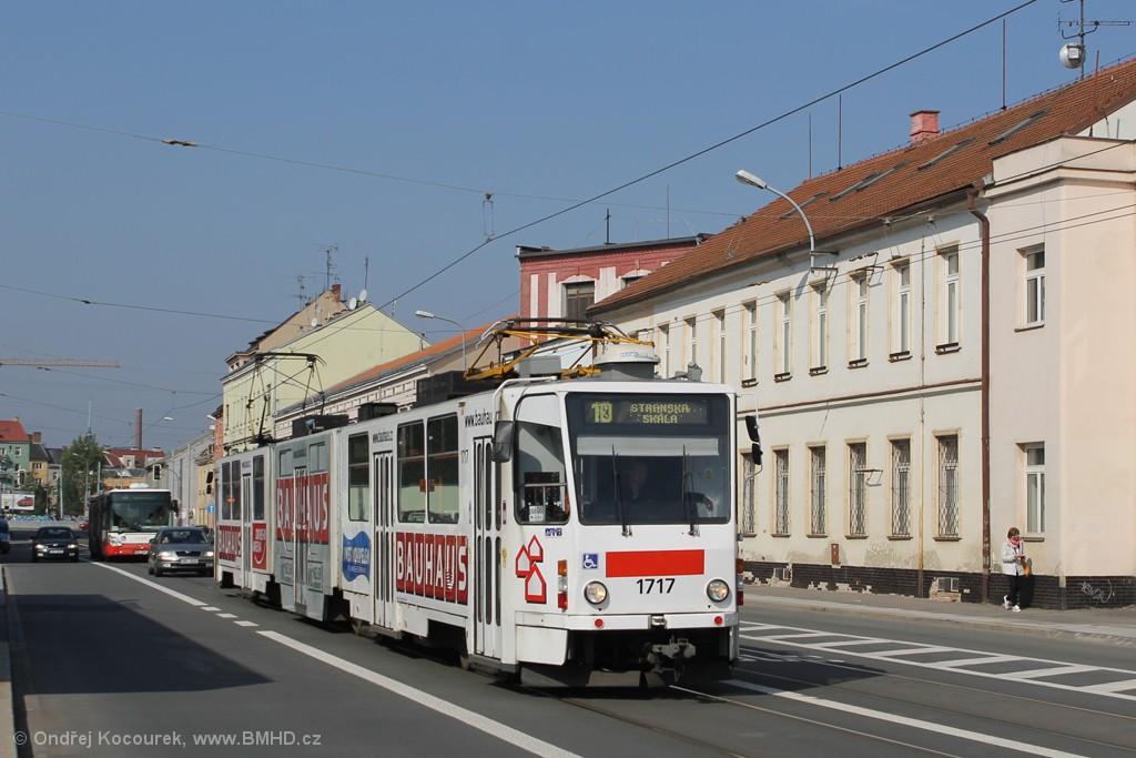 Fotogalerie » ČKD Tatra KT8D5R.N2 1717 | Brno | Černovice | Olomoucká