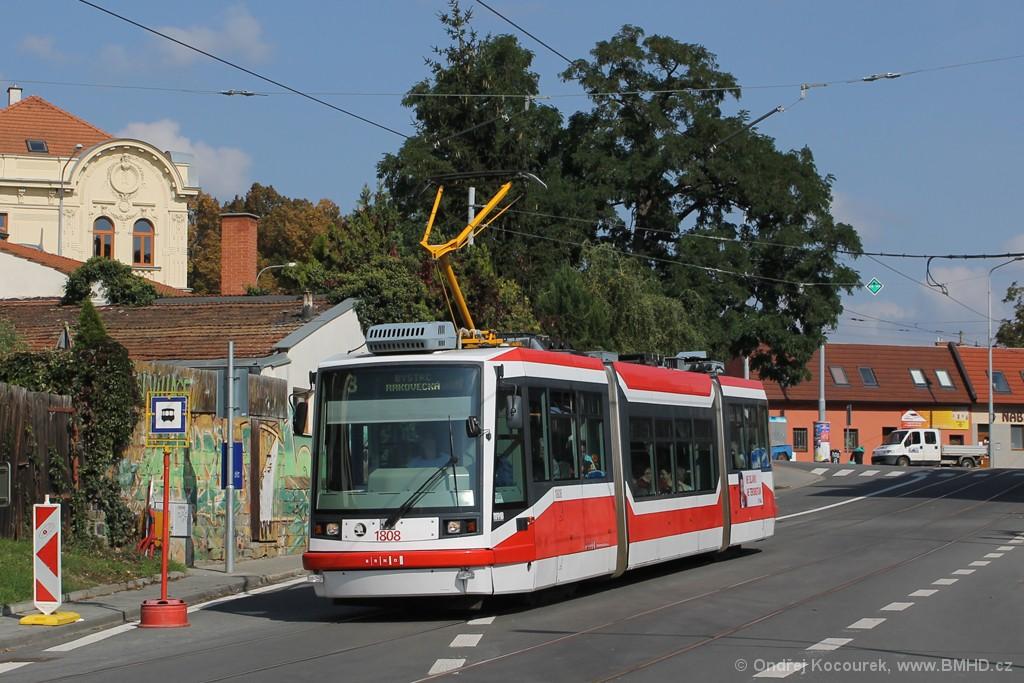 Fotogalerie » Škoda 03T6 1808 | Brno | Žabovřesky | Rosického náměstí | Rosického náměstí