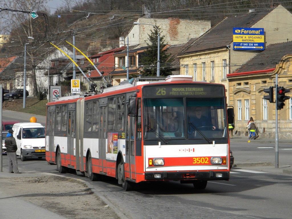 Fotogalerie » Škoda 15TrM 3502   Brno   Husovice   Provazníkova   Tomkovo náměstí