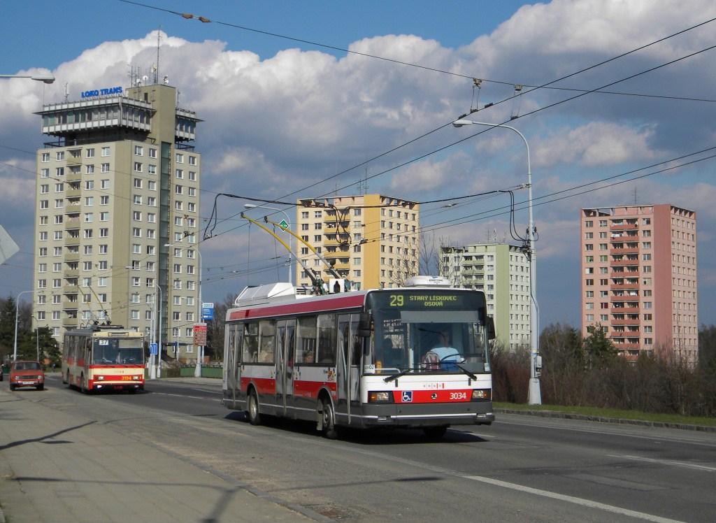 Fotogalerie » Škoda 21Tr 3034 | Brno | Kohoutovice | Libušina třída | Voříškova