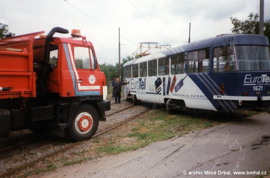 Fotogalerie » ČKD Tatra T3SUCS 1621   Brno   Komín   Kníničská