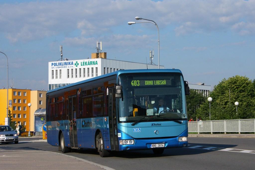 Fotogalerie » Irisbus Crossway LE 12M 6B0 3014 | Brno | Starý Lískovec | Osová | Osová