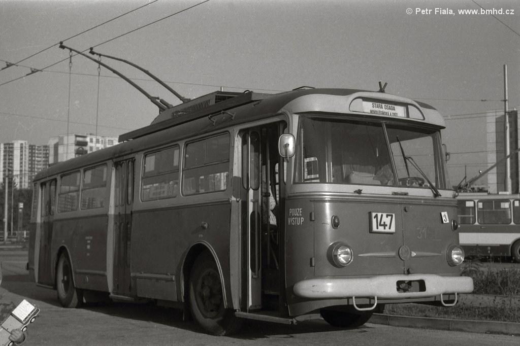 Fotogalerie » Škoda 9TrHT28 3151 | Brno | Líšeň | Novolíšeňská | Novolíšeňská, smyčka
