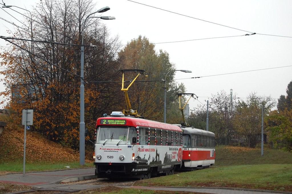 Fotogalerie » ČKD Tatra T3P 1589 | Pragoimex T3R.PV 1558 | Modřice | Modřice, smyčka