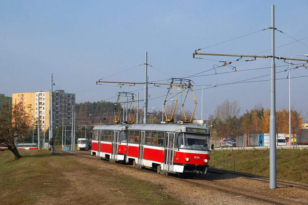Fotogalerie » ČKD Tatra T3G 1634 | ČKD Tatra T3G 1616 | Brno | Bystrc | Vejrostova