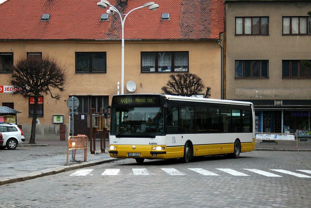 Fotogalerie » Irisbus Citybus 12M 4B7 4243 | Moravský Krumlov | náměstí TGM | Moravský Krumlov, náměstí