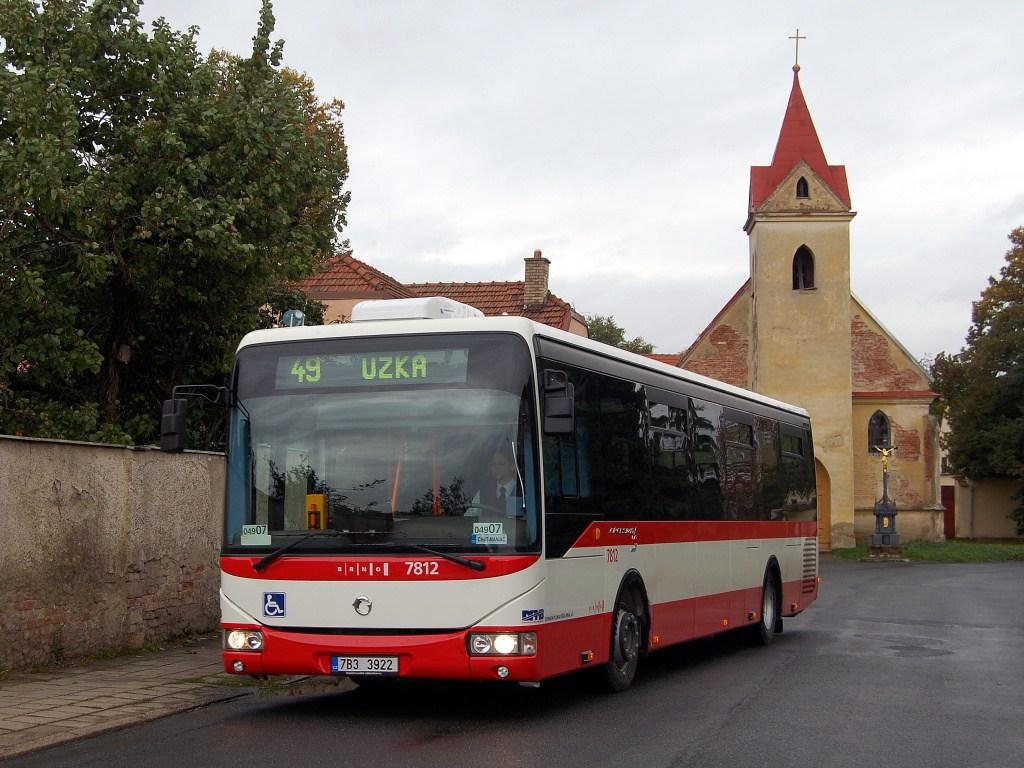 Fotogalerie » Irisbus Crossway LE 12M 7812 | Brno | Přízřenice | Staré náměstí | Přízřenice, smyčka