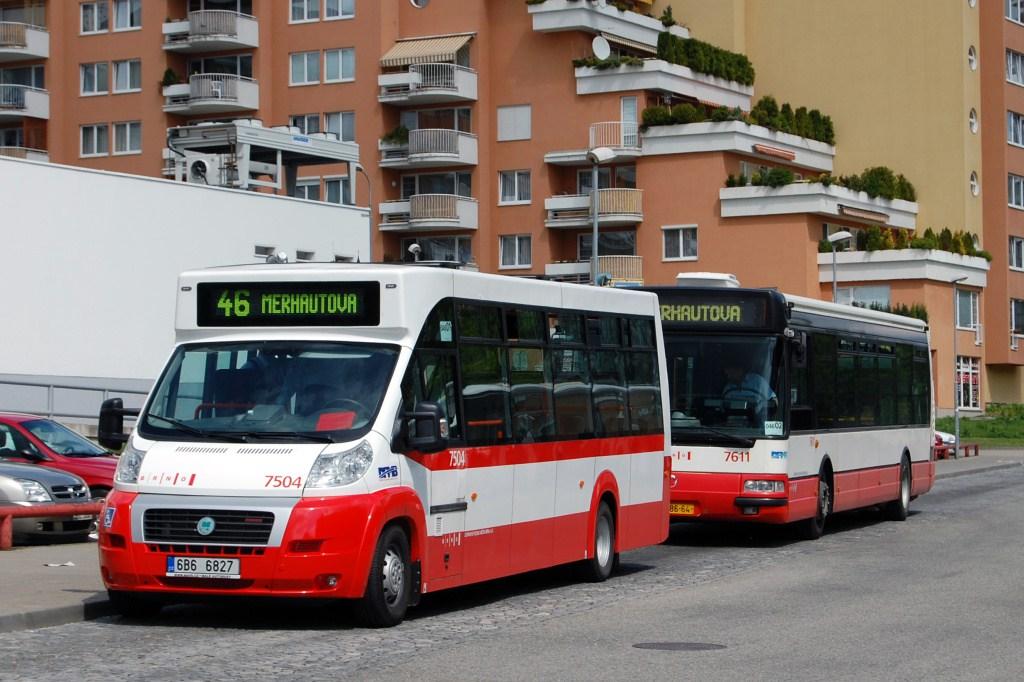 Fotogalerie » MAVE-Fiat CiBus ENA MAXI 7504 | Irisbus Citybus 12M 2071.30 7611 | Brno | Lesná | Okružní | Haškova