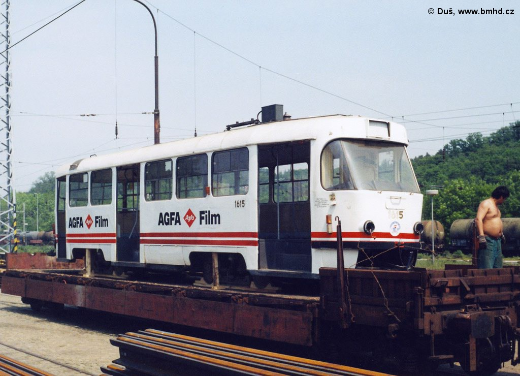 Fotogalerie » T3SUCS 1615 | Brno | Královo Pole | Vlečka DP v Králově Poli
