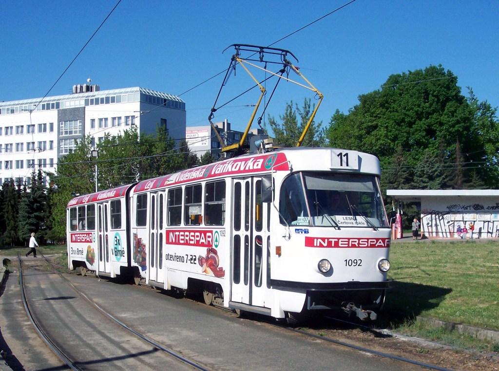 Fotogalerie » ČKD Tatra K2 1092 | Brno | Lesná | Čertova rokle