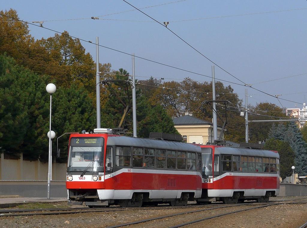 Fotogalerie » ČKD DS T3R 1663 | ČKD DS T3R 1664 | Brno | Štýřice | Vídeňská